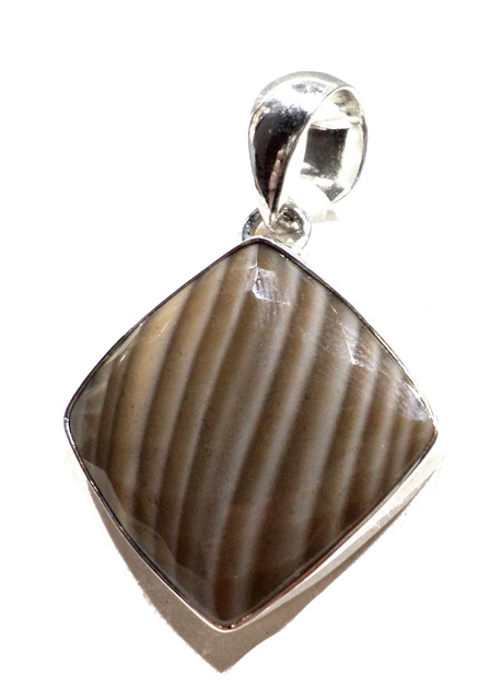 Faceted Polish Jasper pendant